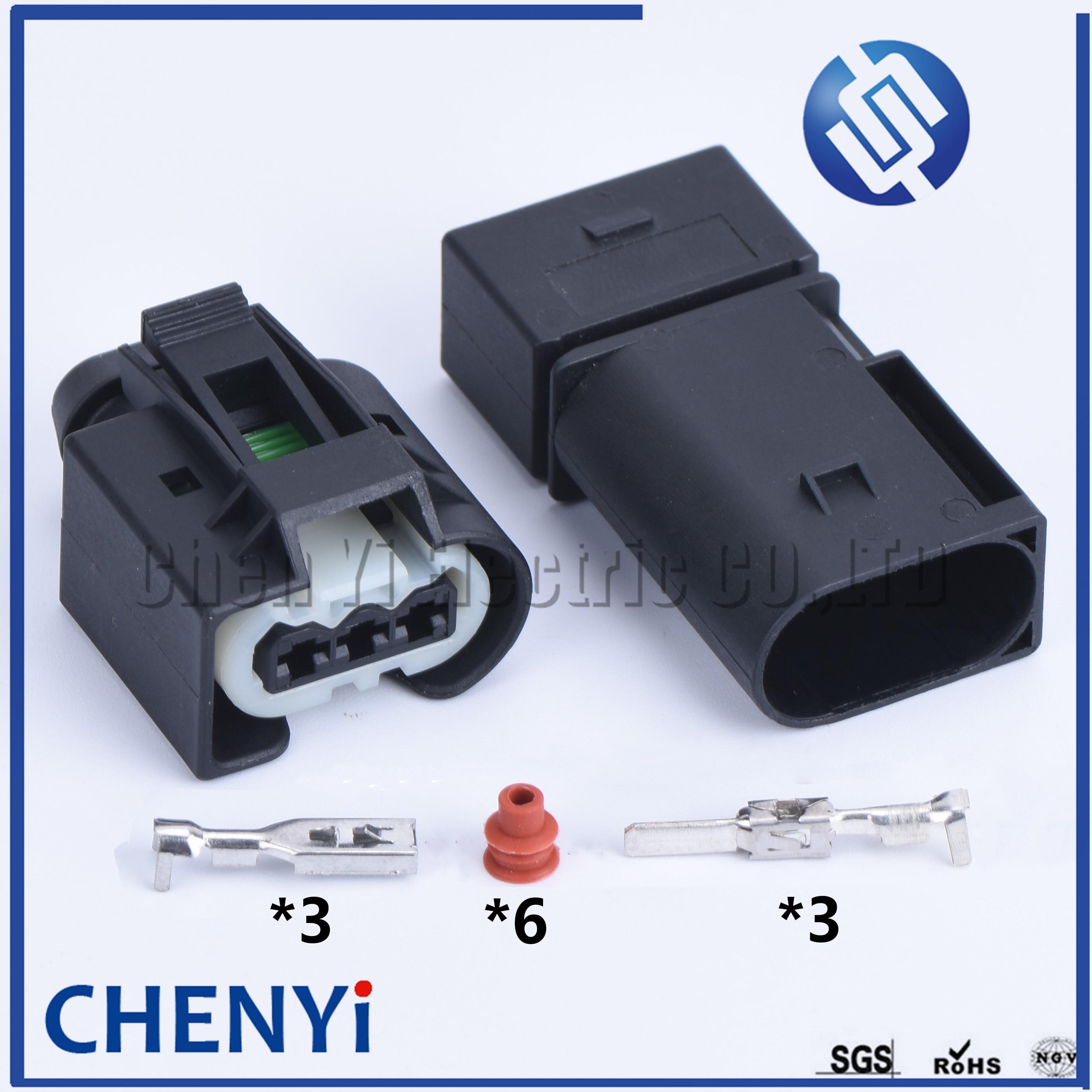 1 комплект, 3-контактный штекер Kostal 09-4413-91, датчик коленчатого вала, разъем инжектора для Benz 09441391 с белым зажимом