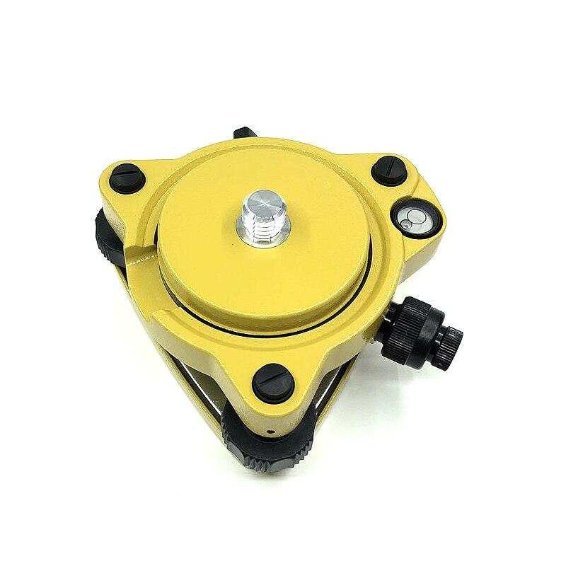 TRIBRACH amarillo de alta calidad con plomada óptica + adaptador fijo con rosca 5/8X11, trípode para estación TOTAL GPS GNSS TRIMBLE