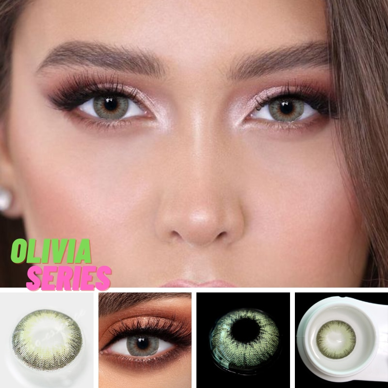 2pcs Olivia Series Colored Contact Lenses Eye Natural Contact Lenses Color Contact Lens for Eye lentes de contacto 2pcs pair colored contact lenses love words series eye contact lenses year use color contact lens for eyes lentes de contacto