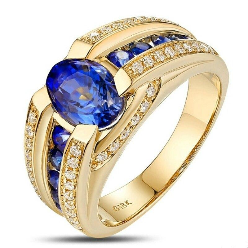 Мужские-Бизнес-сумки-из-золота-18-карат-Цвет-кольцо-Роскошные-властная-синий-камень-кольцо-обручальное-кольцо-вечерние-ювелирные-изделия-Ра