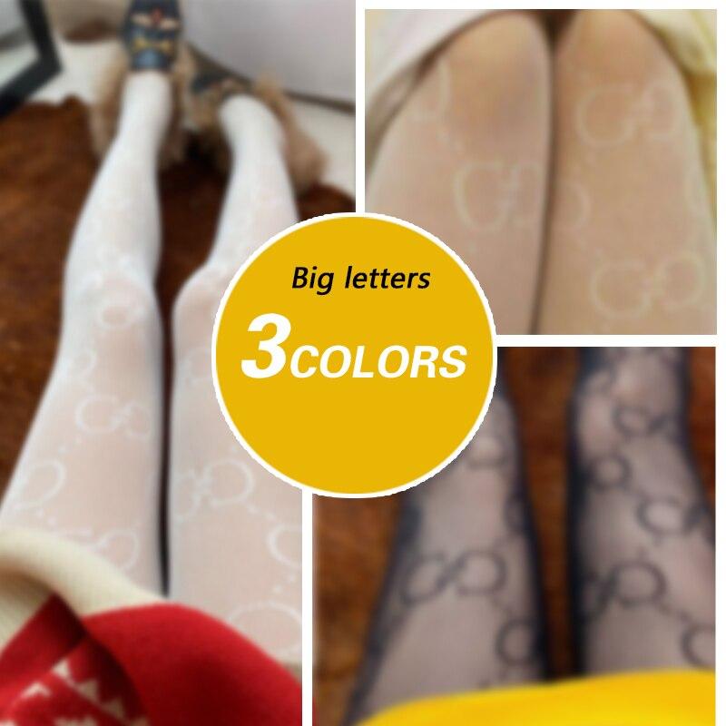 Winter mode damen und mädchen sexy elastische strumpfhosen vielseitig buchstaben gemusterte in 3 farben