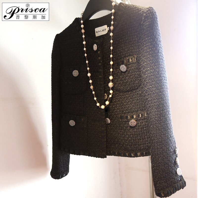 شريط أسود جديد الصوف معطف الإناث بوتيك العطر الصغيرة مخصصة الراقية الذاتي زراعة خاصة ، يمكن حجم مخصص