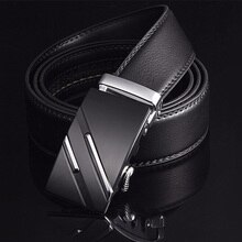 Free Shipping Men's Fashion Genuine Leather Belts  For Men High Quality Metal Automatic Buckle Strap