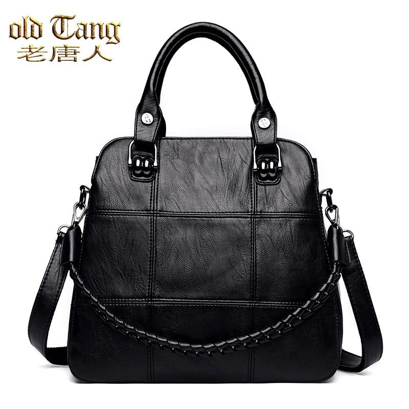 OLD TANG Fashion Simply Crossbody Bag for Women 2020 Winter Solid Color PU Leather Shoulder Messenger Bag Lady Travel Handbag