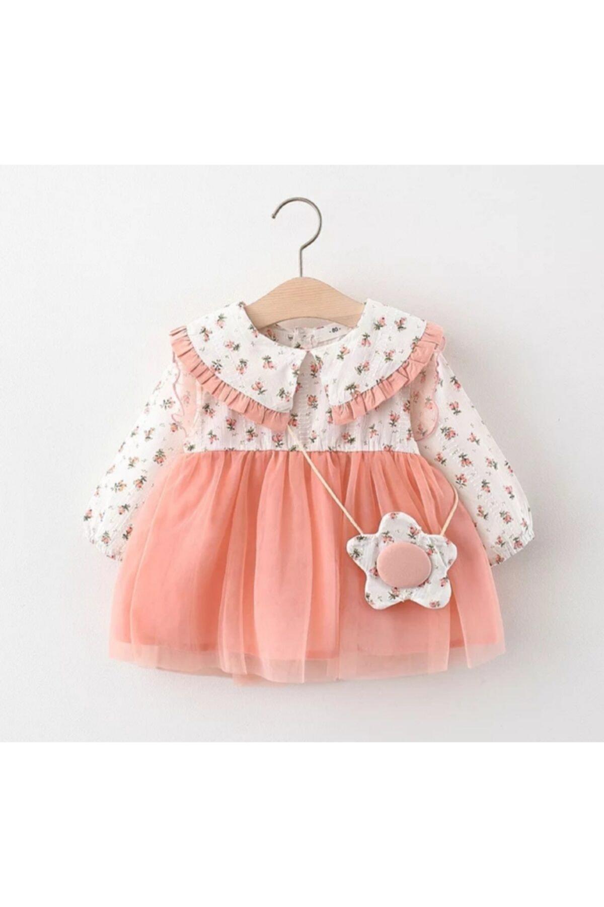 Rosa Floral Botón de vestido de algodón de doble Breasted Regular estándar...