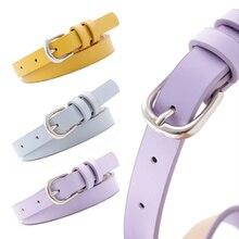 Cinturón de cintura alta para mujer, cinturón de aleación con hebilla de Pin para pantalones vaqueros, ajustable, bonito, en rojo, negro y rosa
