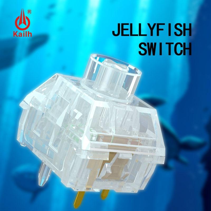 Переключатель Kailh Box JELLYFISH Mster Seirs механический переключатель клавиатуры водонепроницаемый и пыленепроницаемый прозрачный линейный Clikcy 10 шт...