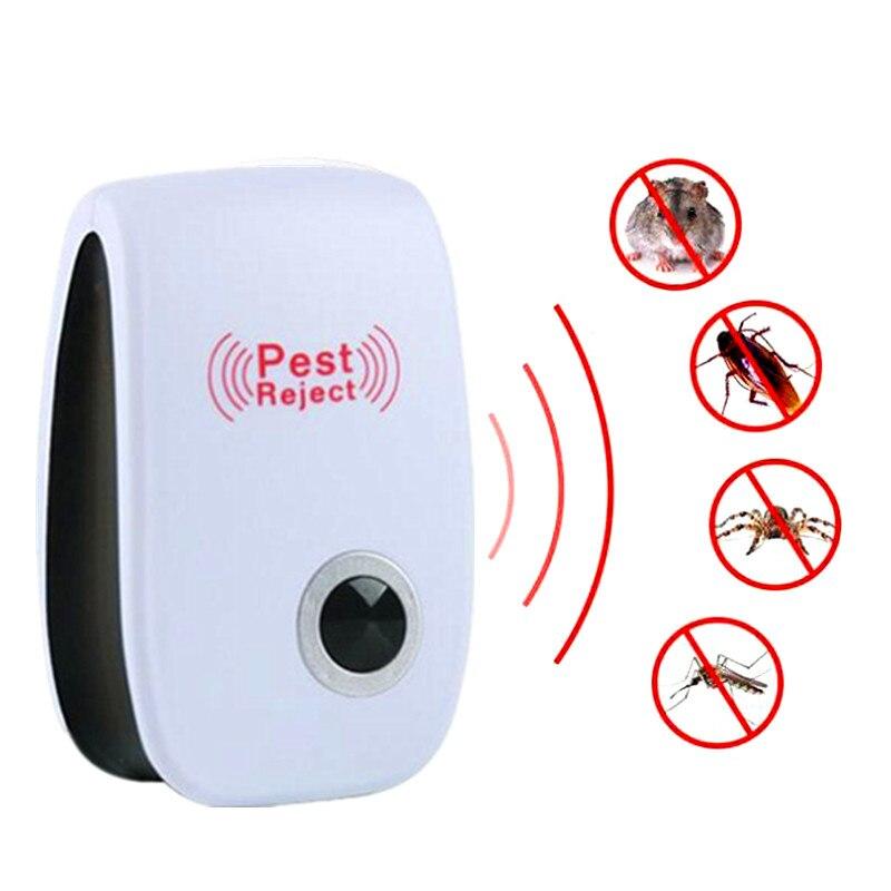 US/EU/enchufe de Reino Unido versión mejorada gato ultrasónico Anti repelente de mosquitos e insectos rata ratón rechazar repelente cucaracha de plagas
