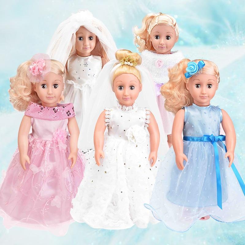 Muñeca Reborn realista de 46cm, muñecas de moda de plástico con juntas de silicona, simulación de escenas de boda, juguetes para niñas, regalo DIY