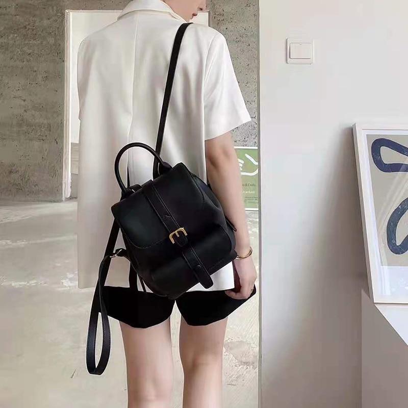 Рюкзак из натуральной кожи для ноутбука, Женский деловой Повседневный Рюкзак, женский рюкзак для компьютера, рюкзак