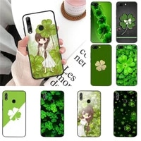 yndfcnb four leaf clover soft phone case cover for huawei honor 8x 9 10 20 lite 7a 7c 10i 9x play 8c 9xpro