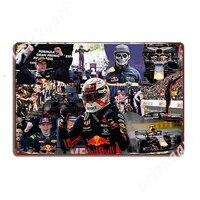 Plaques de signes metalliques de course automobile Verstappen  cinema personnalise  Garage  maison Max  affiches en etain
