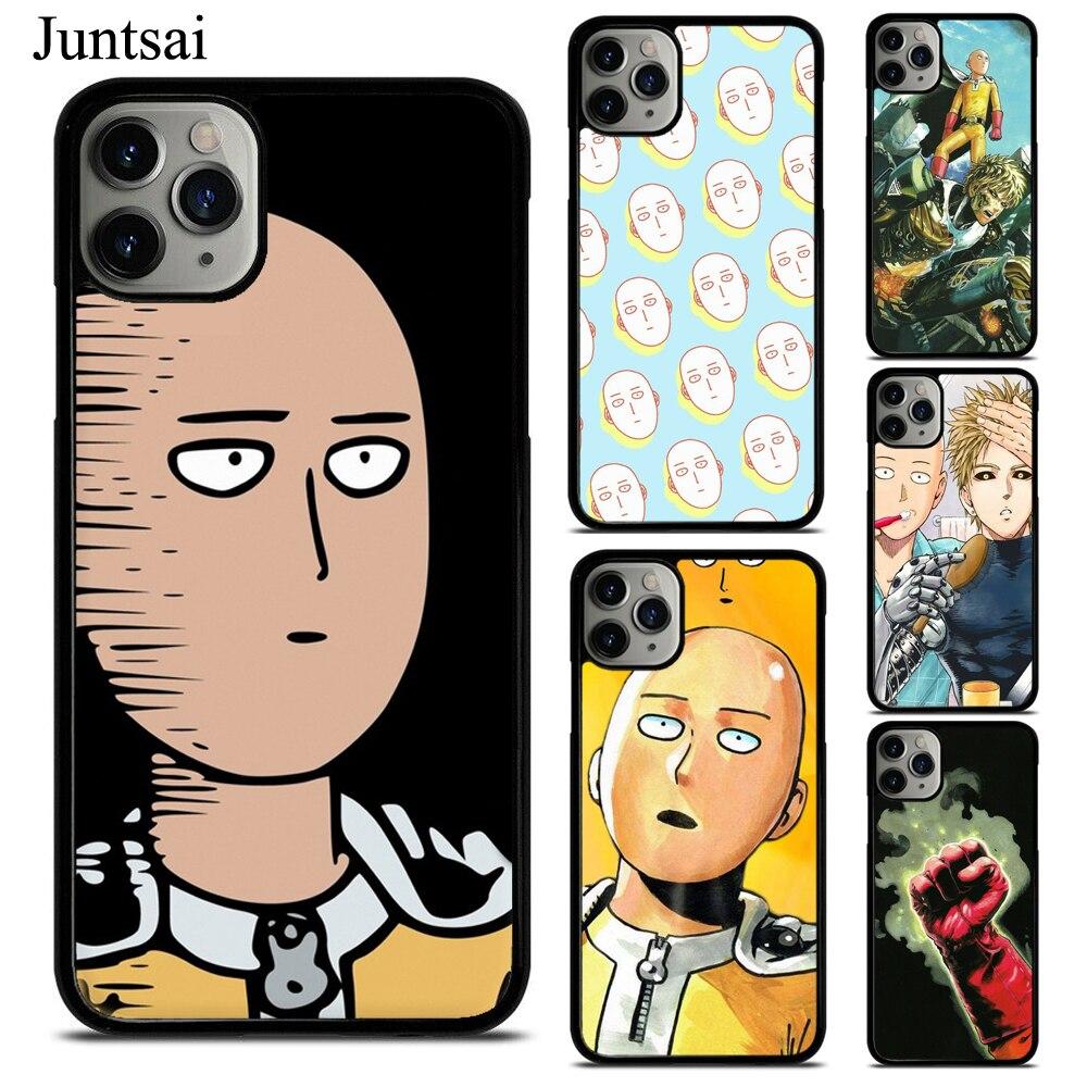 Juntsai One Punch Man Japan Manga TPU Phone Case For iPhone X XS Max XR 7 8 SE 2020 6S Plus 5 11 Pro Max Cover Coque