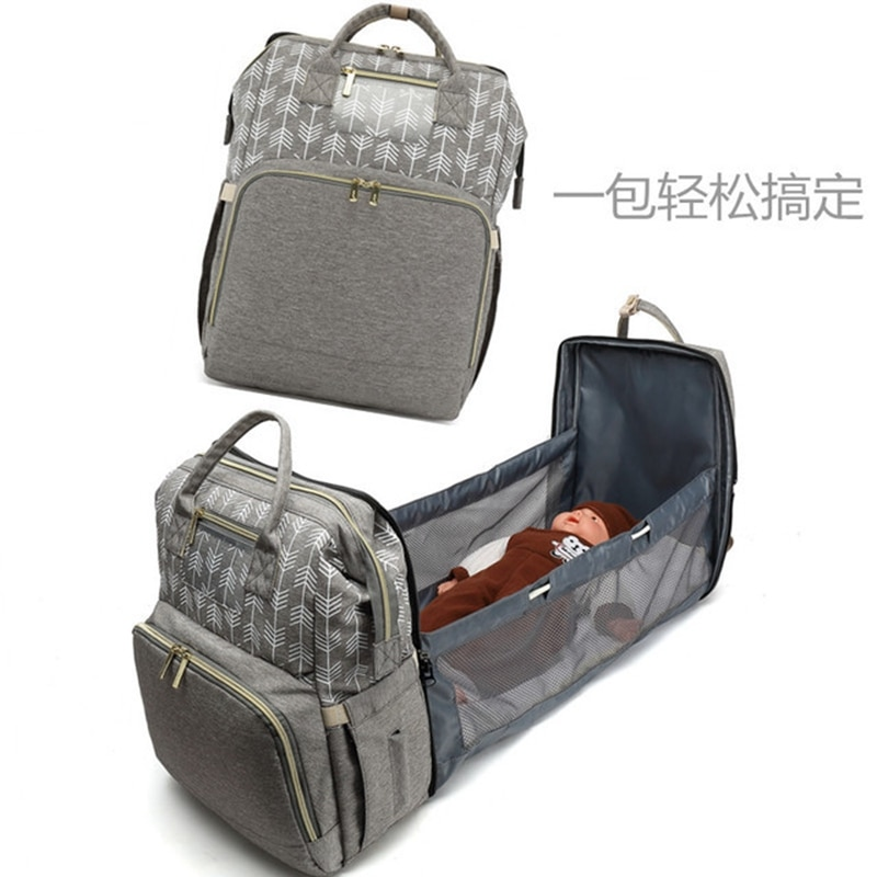 2021 Mother Diaper Bags For Mom Multifunctional Travel Nappy Bag Baby Bed Bag Backpack Maternity Foldable Nursing Bags