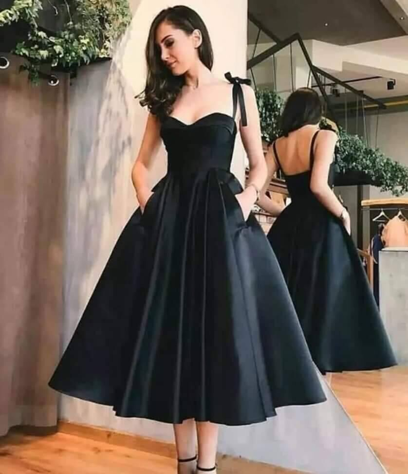BEPEITHY 2021-فستان سهرة أسود ، ثوب كرة طويل ، مع جيوب ، مقاس كبير ، مصنوع حسب الطلب