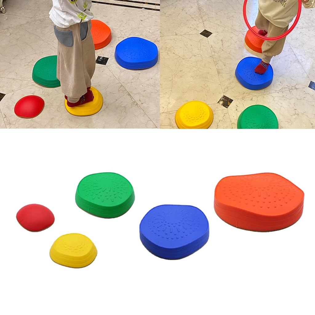 5pcs-multi-size-stepping-stone-kid-balance-training-toy-indoor-outdoor-game