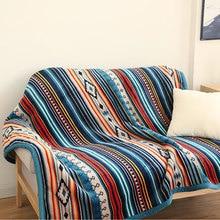 Couverture de canapé en molleton pour canapé   Couverture de voyage, en flanelle, Super douce, rétro, pour canapé Portable voiture, Sherpa