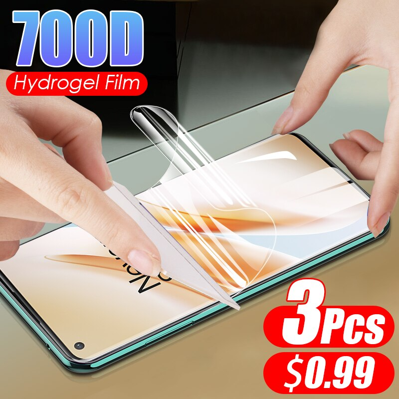 Película de hidrogel de cobertura completa para Oneplus 3T 3, Protector de pantalla para Oneplus 3 PRO, película protectora completa, sin vidrio