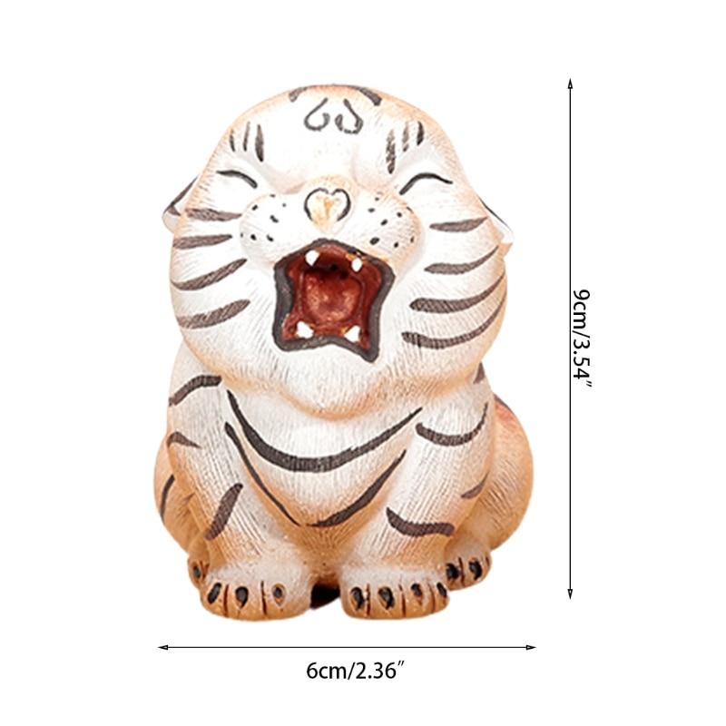 C5AD الأرجواني الطين الشاي الحيوانات الأليفة لطيف قليلا النمر النحت تمثال اليدوية الحلي الحرف صينية الشاي اكسسوارات