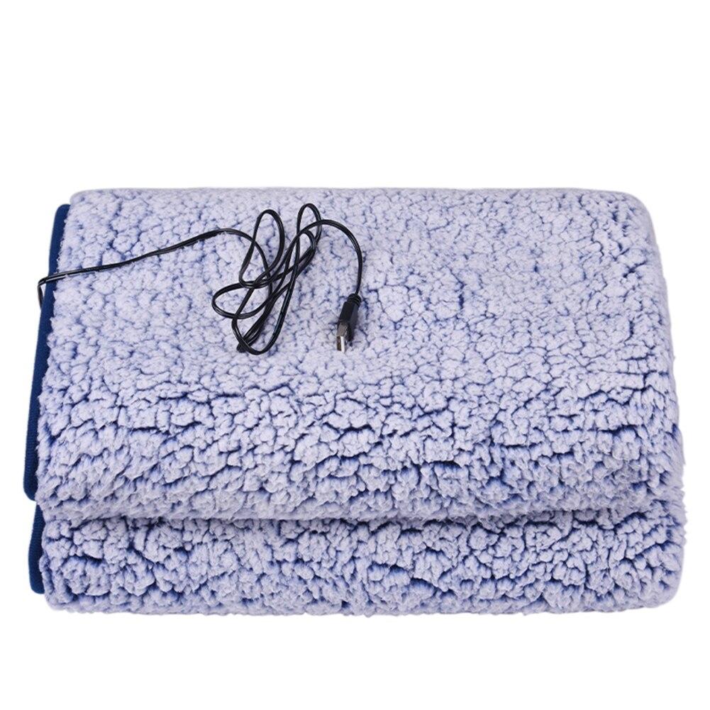 X70cm بطانية صوف كهربية مزدوجة القطن المخملية الكهربائية USB بطانية آلة قابل للغسل للمنزل السفر مكتب الترحيب