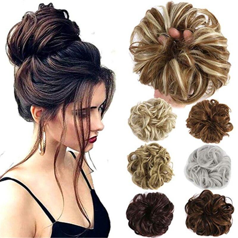 Producto en oferta, 30 colores, cabello Real rizado Natural para mujeres y niñas, pieza de cabello falso, extensiones para sombreros, diadema, nuevo