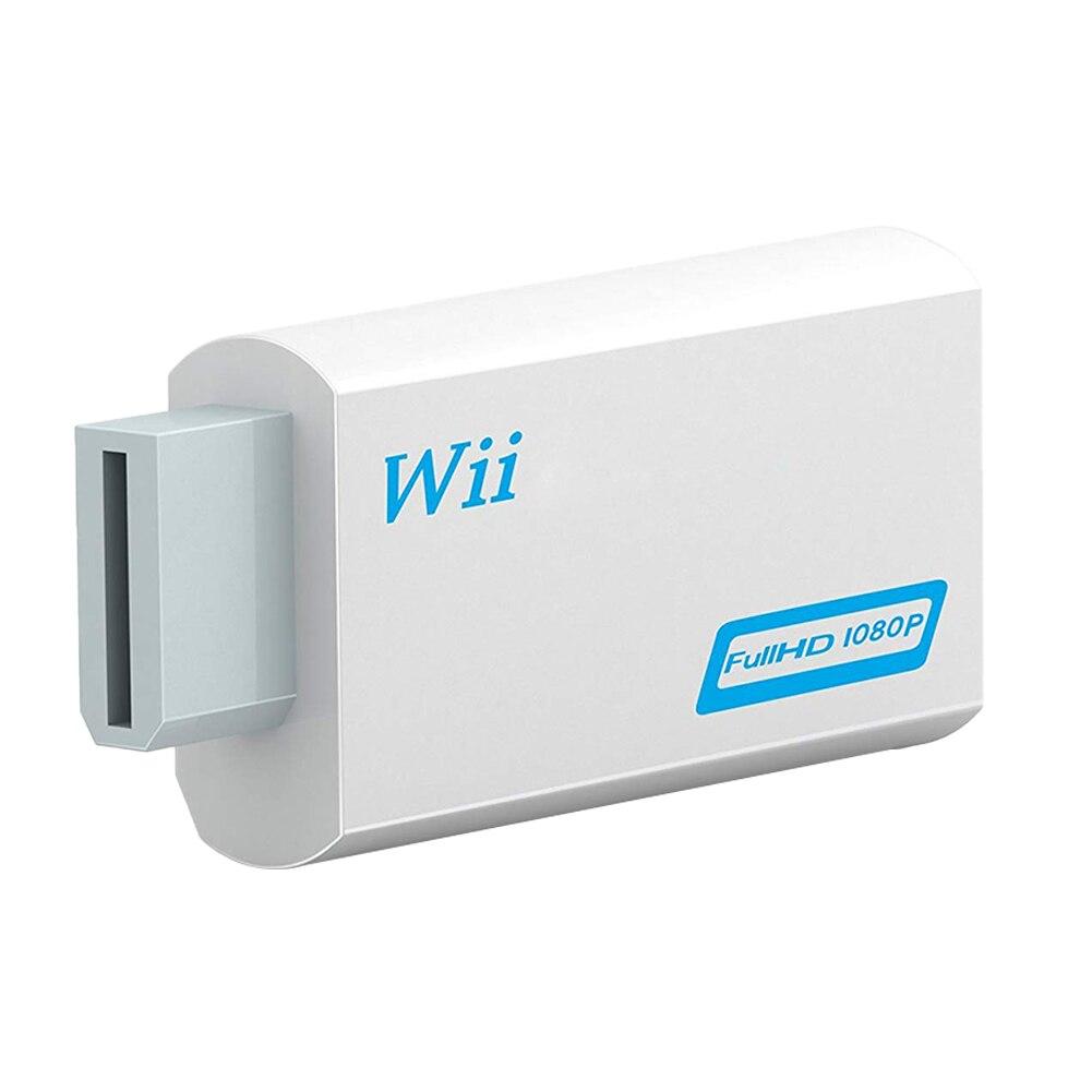 Full HD 1080P Wii Compatible con HDMI Adaptador convertidor Wii2HDMI-Compatible convertidor de...