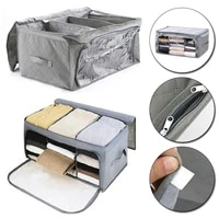 1pc non woven quilt storage box clothes organizer with handles clear window storage container save space home storage box