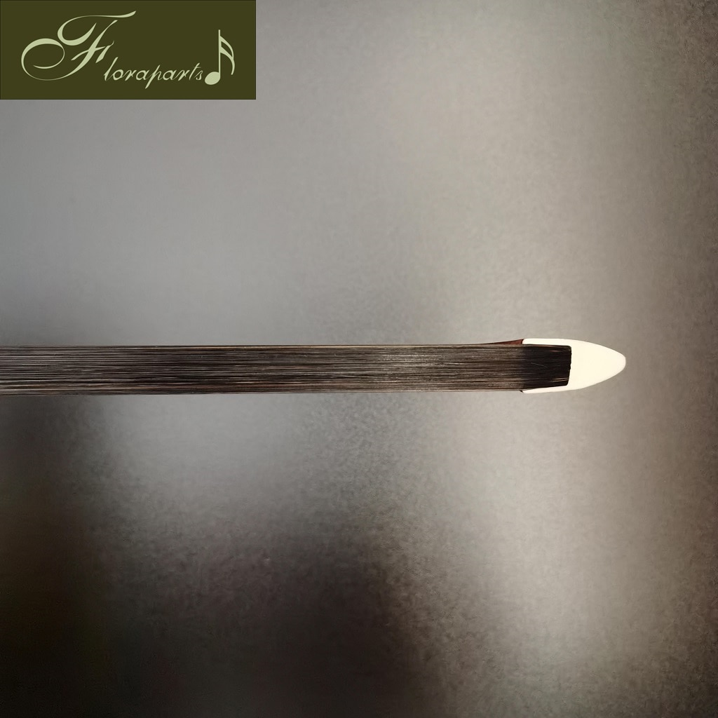 Floraparts 4/4 Size German Style Bass Bow High Quality Brazilwood Round Stick Nickel Silver Parts FPZ025 enlarge