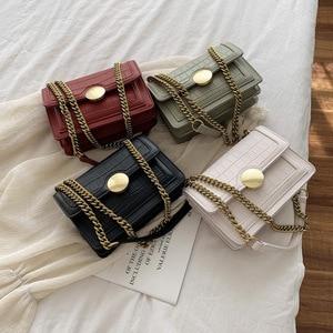 Women's Fashion Messenger Bag 2020 Quality PU Leather Shoulder Bag Messenger Bag Girls Crocodile Pattern Bag Ladies Phone Wallet