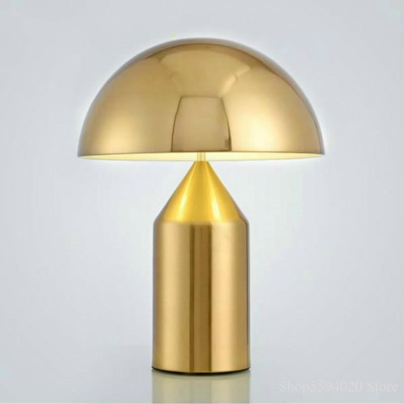 Minimalist Postmodern light bedroom study table light Nordic personality creative mushroom table lam
