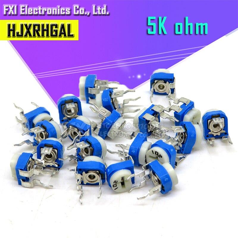20PCS RM065 RM-065 5K ohm 502 RM065-502 Trimpot Trimmer Potentiometer variable resistor