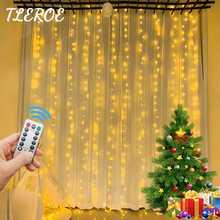 гирлянда светодиодная Рождественские светодиодные гирлянды, дневные светильники, эстетическое украшение для гостиной, свадебная занавеск...