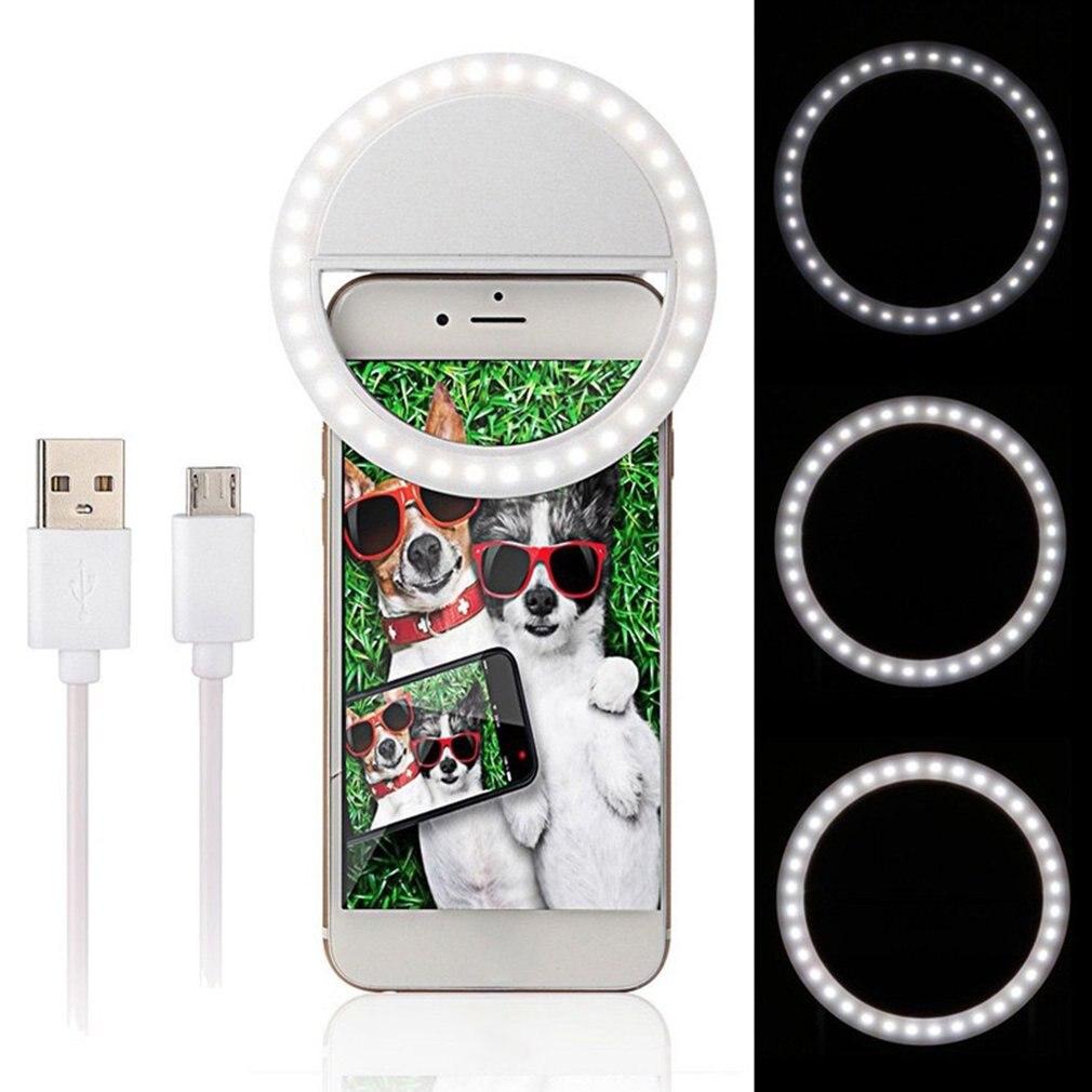 Portable USB Self-timer Flash Camera Clip-on Phone Self-timer Lamp Video Lights LED Night Photo Beauty Fill Light