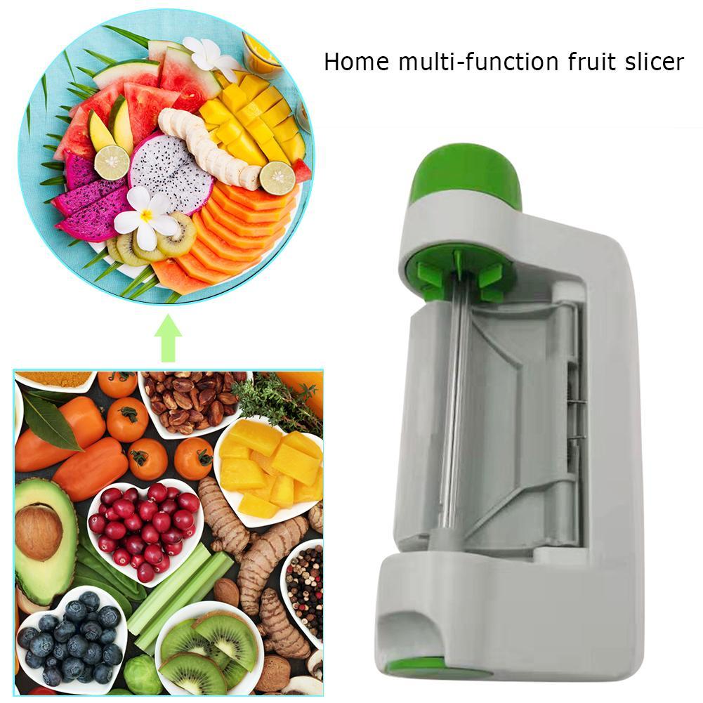 Безопасные быстрые ручные слайсеры, многофункциональный резак, круглый лист для фруктов, режущие ломтики, бытовые кухонные принадлежности