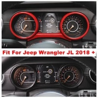 center console dashboard instrument decoration ring cover trim fit for jeep wrangler jl 2018 2019 2020 abs accessories interior