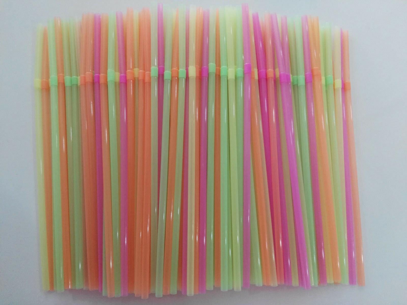 900 palhas retas coloridas dos pces canudos bebendo descartáveis do plástico da palha da festa
