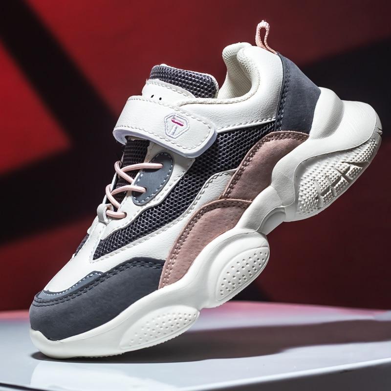 2021 New Kids Running Shoes for Girls Chunky Sneakers Breathable Mesh Boys Designer Shoes Children C