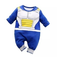 Baby Boy Kleidung Neugeborenen Strampler Baumwolle Dragon Ball Vegeta Infant Overalls Bebe Carters Langarm Cartoon Neue geboren Kleidung