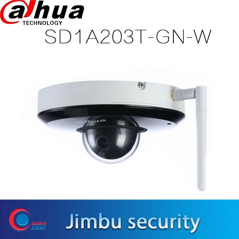 Dahua IP камера Wi-Fi PTZ 2MP 3x Starlight инфракрасная сетевая камера SD1A203T-GN-W Поддержка Wi-Fi 1/2.8 2Mp STARVI CMOS IVS IR 15m IP66