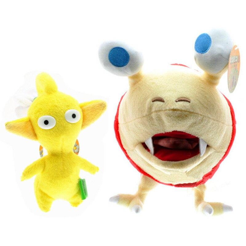 Lindo juego PIKMIN Peluche de felpa de juguete suave amarillo Pikmin y caracol muñeco de peluche niños regalos de cumpleaños de Navidad