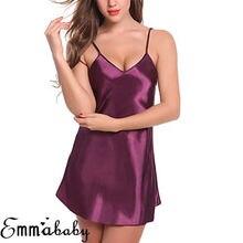 Femmes Sexy Lingerie soie dentelle Robe nuisette chemise de nuit chemise de nuit Robe de nuit 3FS