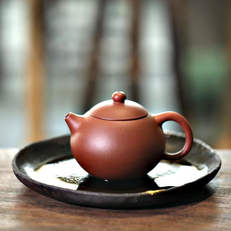 طقم شاي الكونغ فو موصى به yixing من مونوهيدرات # يناسب محلي نقي يدوي بجلد أحمر طويل Wendan 180 مللي