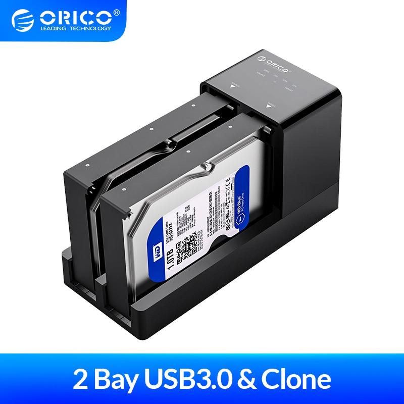 Orico 2 Bay 2.5 3.5 Inch Usb 3.0 Hdd Behuizing Offline Clone Hdd Docking Station Harde Schijf Ondersteuning 10 Tb hdd Case
