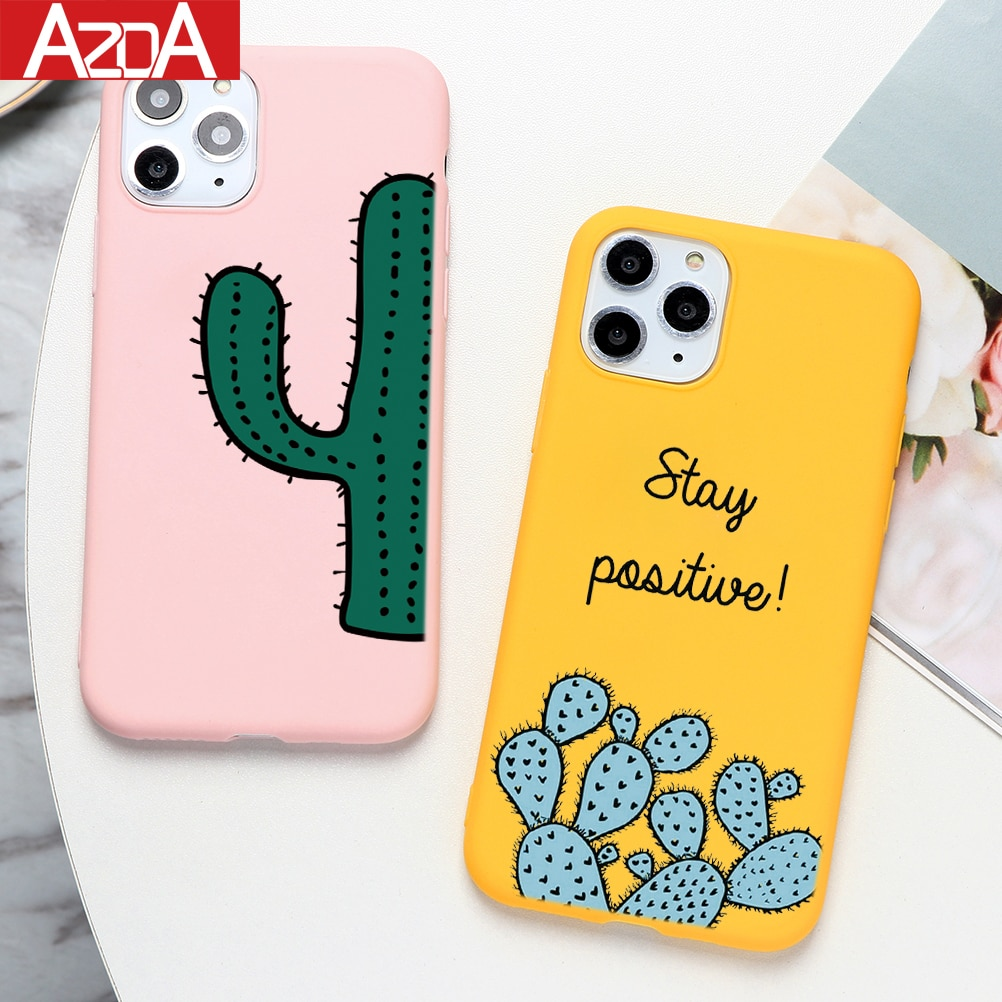 Cactus flower Soft TPU Coque Phone Cases For iPhone 11 Pro Max XS Max X XR 8 6 6S 7 Plus 5 5S SE 11Pro Case Silicone Cover Capas