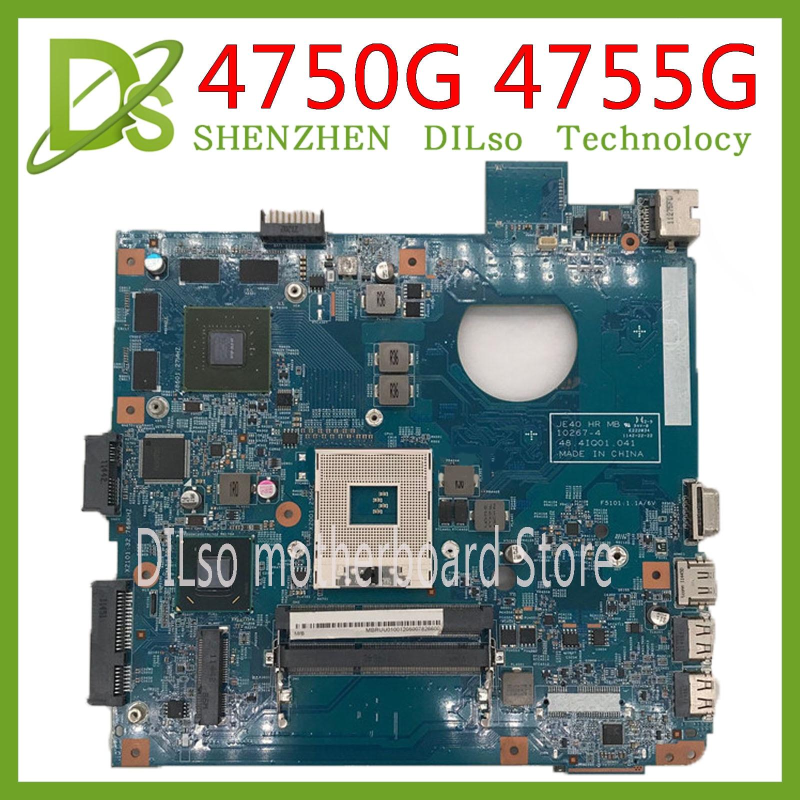 KEFU 4752 motherbaord para Acer aspire 4750G 4752G 4755G placa base 10267-4 HM65 DDR3 100% prueba original mianboard