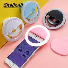 Shellnail Universale Selfie Lampada Obiettivo Del Telefono Mobile Portatile Flash Anello di LED Della Fotocamera Anello Luminoso Luce Della Clip Per il iPhone XS 11 più