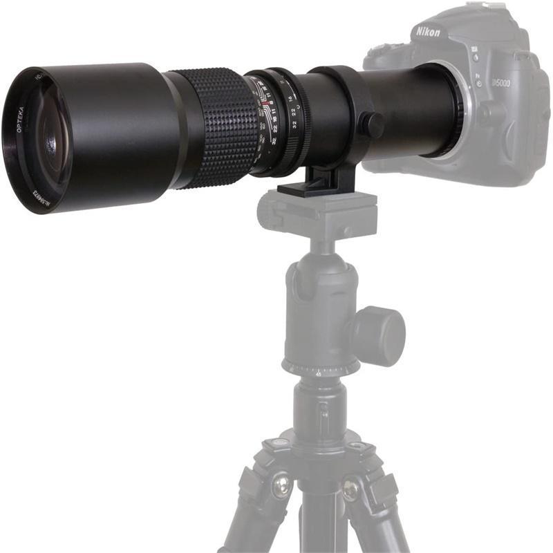 500mm-F8 lente de enfoque fijo Manual Multi-coated All-glass Elements lente de la Cámara con montaje de trípode giratorio