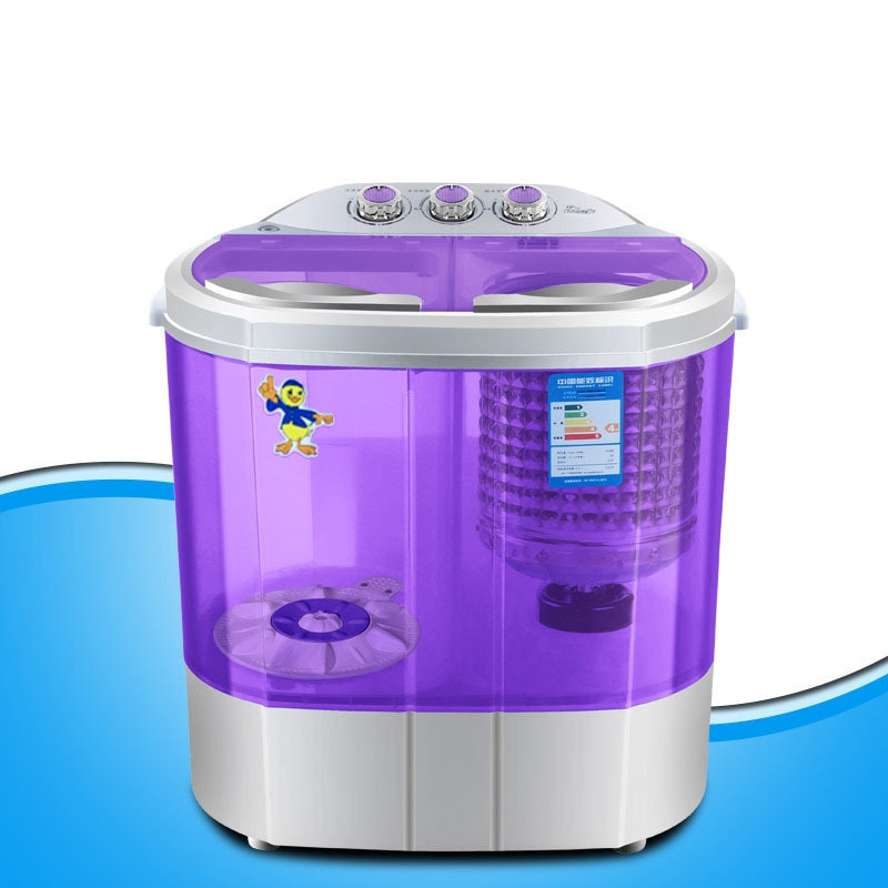 Mini Washing Machine Small Double Barrel Double Cylinder Children\'s Baby Gift Home Semi-Automatic Spin-Dry