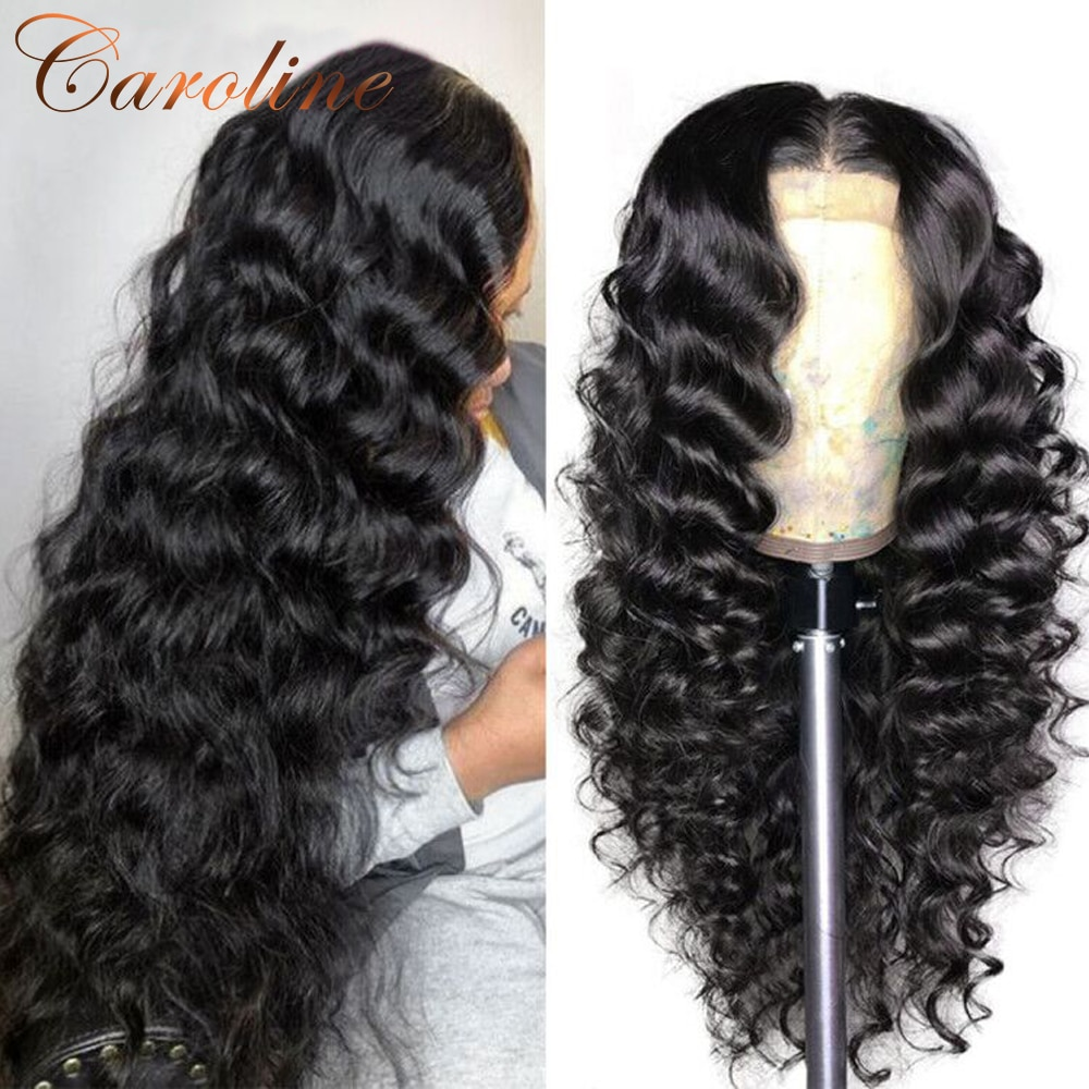 Lace Front Human Hair Wigs For Women Loose Deep Wave Wig 180 Density 13x4 Lace Frontal Wig 4x4 Closure Wig Remy Pre Plucked