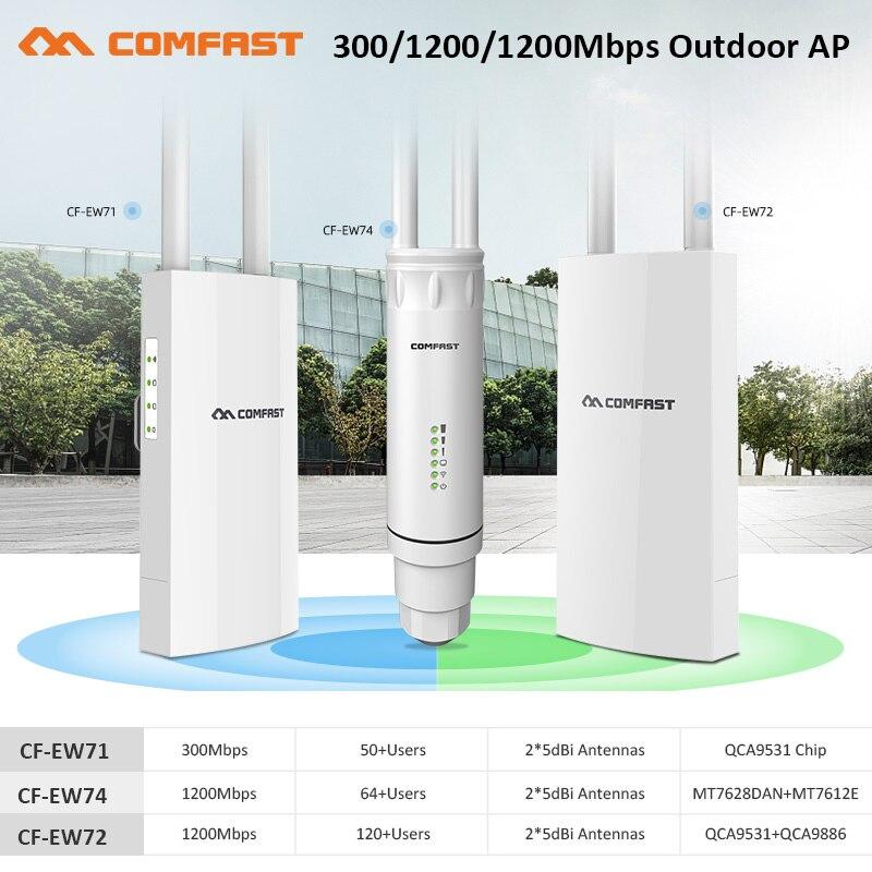 300 - 1200 Мбит/с дальние расстояния Wi-Fi открытый AP/ретранслятор/маршрутизатор PoE с высоким коэффициентом усиления 2,4/5G антенны Wifi расширитель ди...